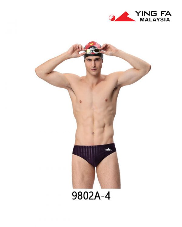Men Lightning SharkSkin Swim Brief 9802A-4 | YingFa Ventures Malaysia