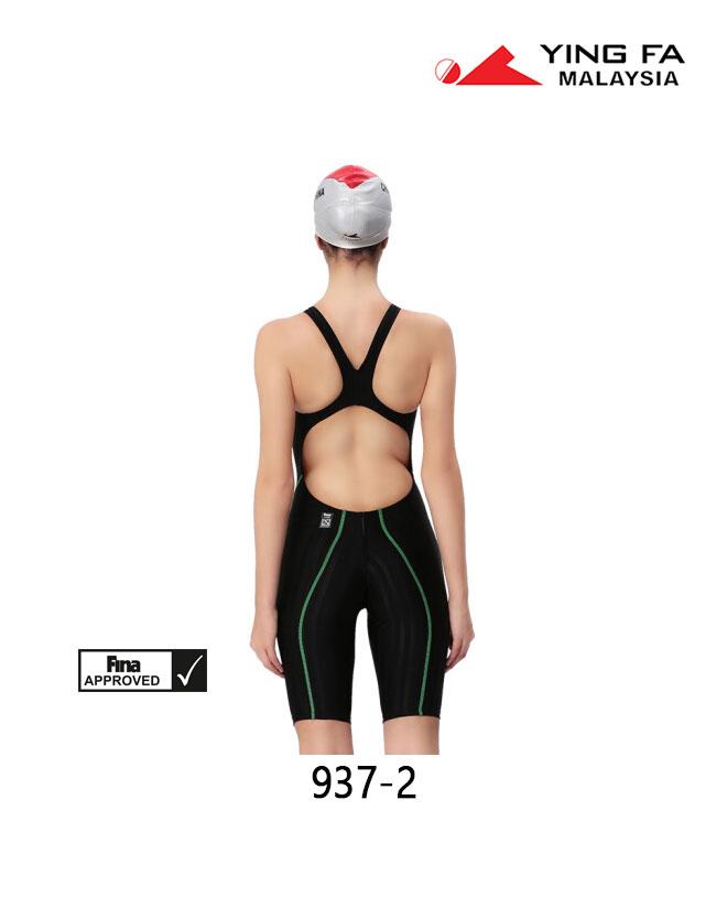 Green Black Yingfa Women/'s 937-2 Lightning Sharkskin KneeSkin
